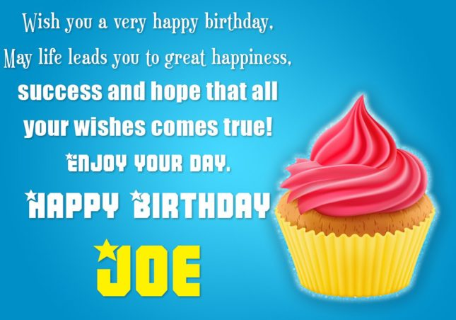 Happy Birthday Joe - AZBirthdayWishes.com