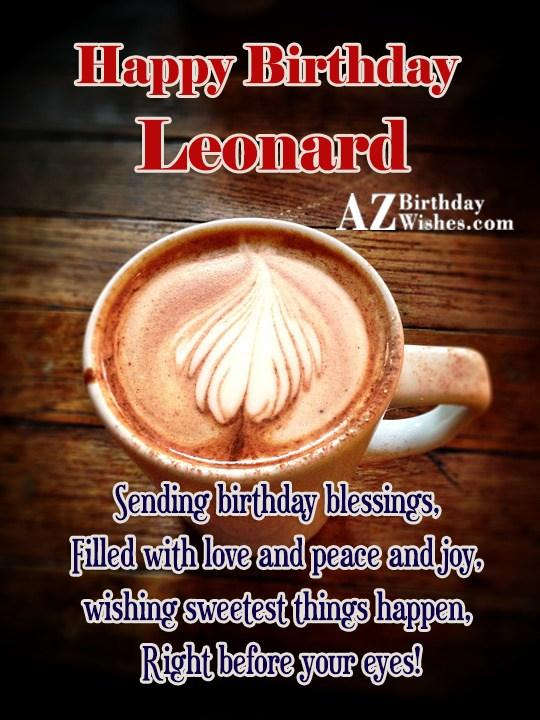 Happy Birthday Leonard - AZBirthdayWishes.com
