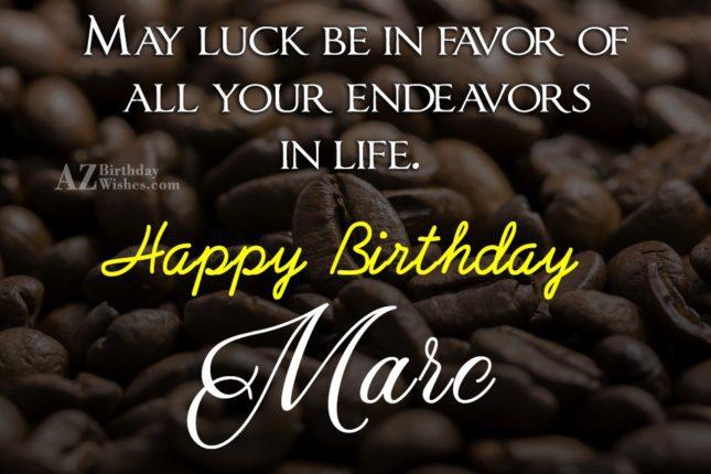 Happy Birthday Marc - AZBirthdayWishes.com