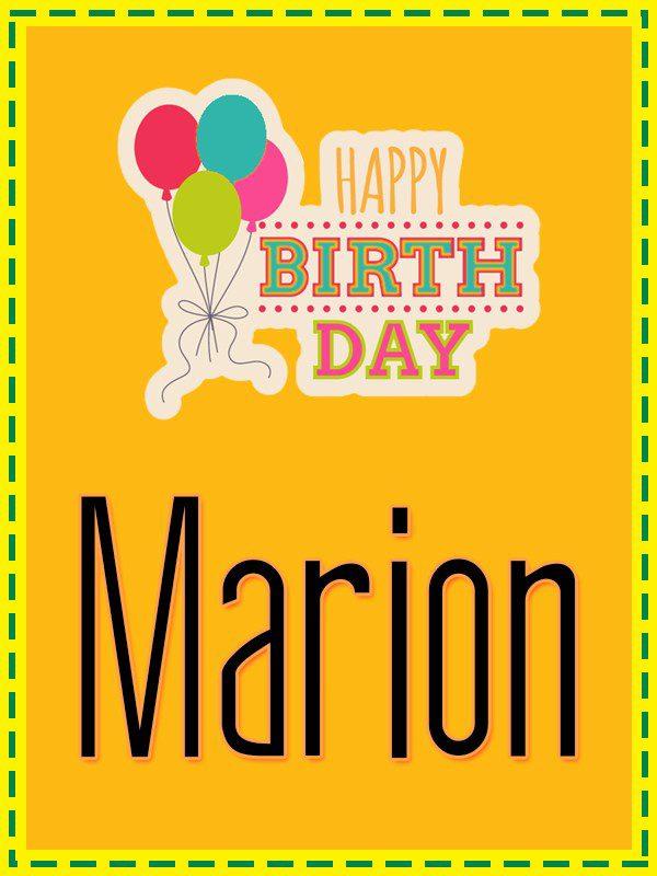 Happy Birthday Marion - AZBirthdayWishes.com