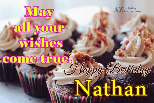 Happy Birthday Nathan - AZBirthdayWishes.com