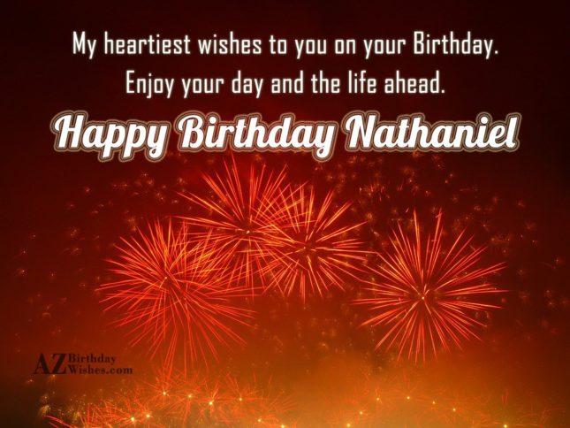 Happy Birthday Nathaniel - AZBirthdayWishes.com
