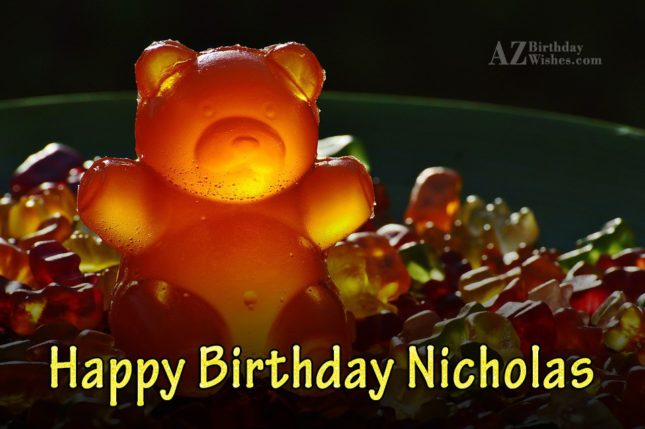 Happy Birthday Nicholas - AZBirthdayWishes.com