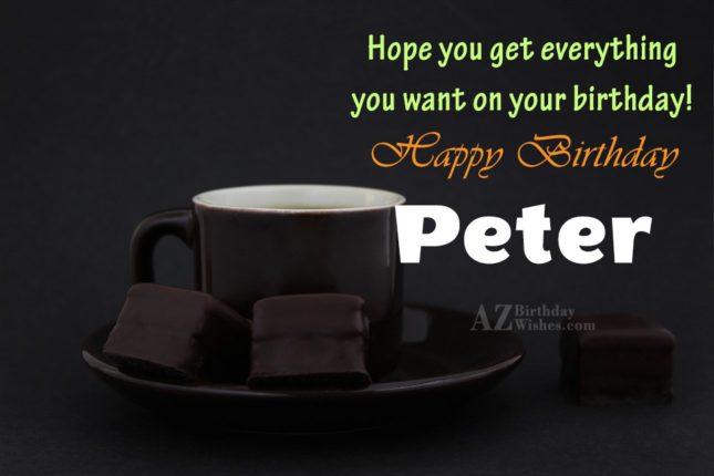 Happy Birthday Peter - AZBirthdayWishes.com