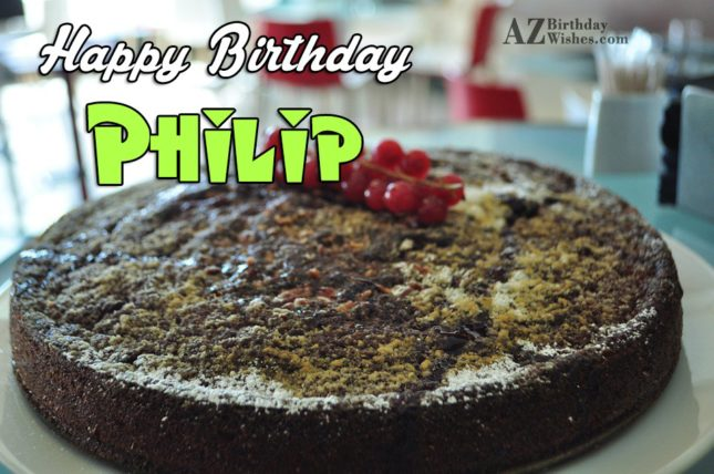 Happy Birthday Philip - AZBirthdayWishes.com
