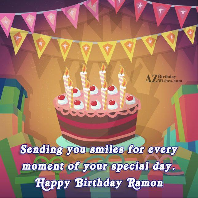 Happy Birthday Ramon - AZBirthdayWishes.com