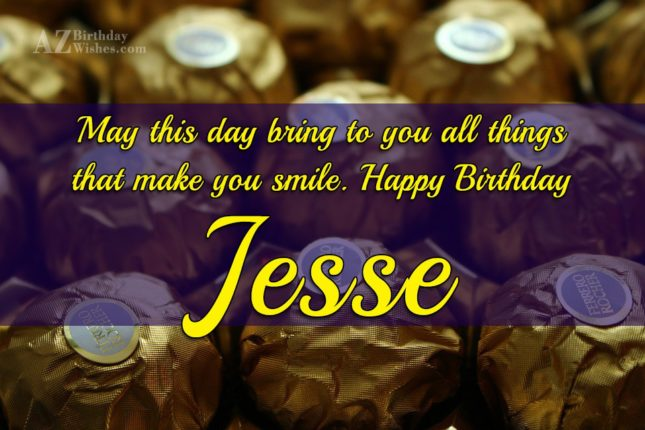 Happy Birthday Jesse - AZBirthdayWishes.com