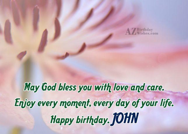 Happy Birthday John - AZBirthdayWishes.com