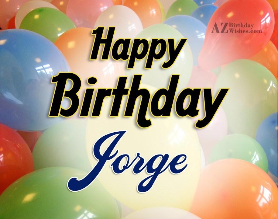 happy birthday jorge