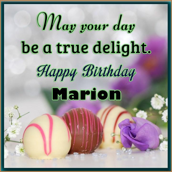 Happy Birthday Marion