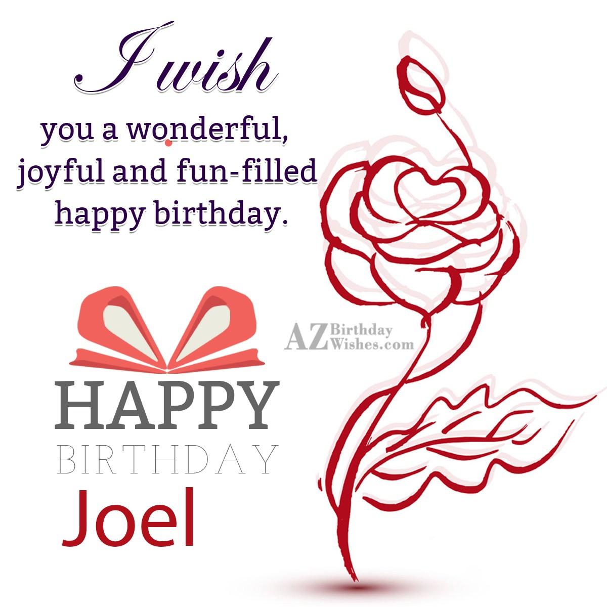 1200 X Azbirthdaywishes Happy Birthday Joel