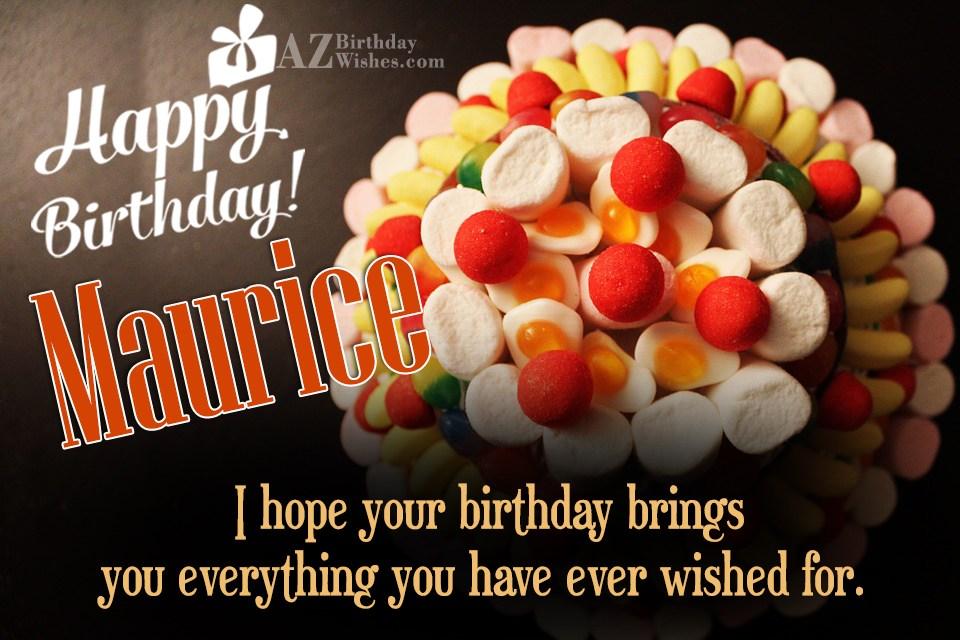 Happy Birthday Maurice
