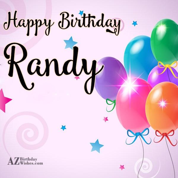 Happy Birthday Randy