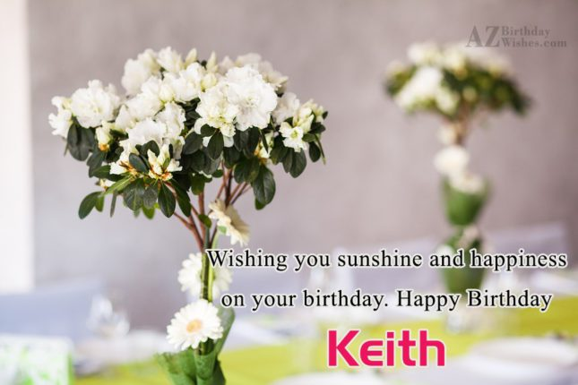 Happy Birthday Keith - AZBirthdayWishes.com