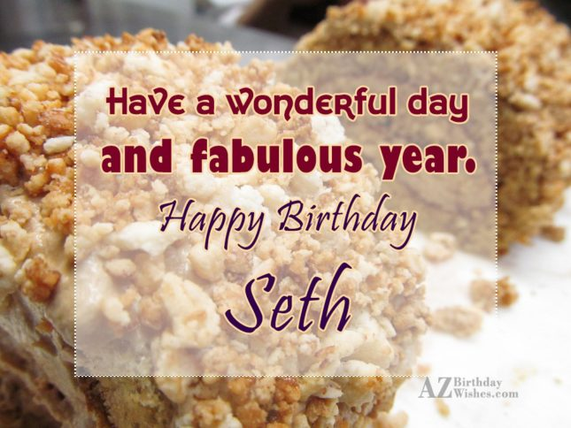 Happy Birthday Seth - AZBirthdayWishes.com