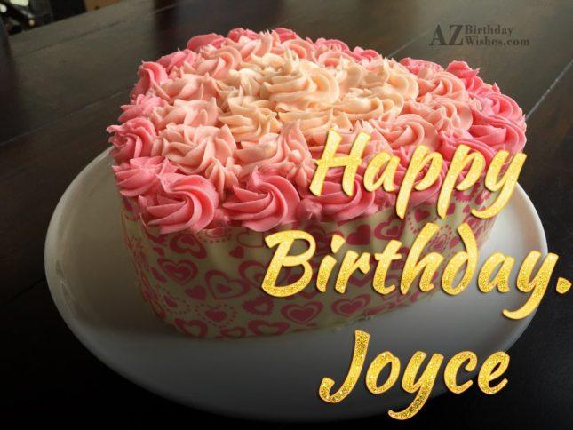 Happy Birthday Joyce - AZBirthdayWishes.com