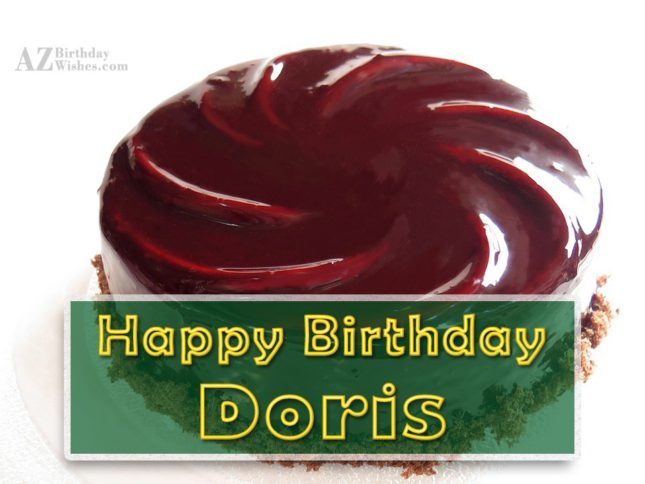 Happy Birthday Doris - AZBirthdayWishes.com