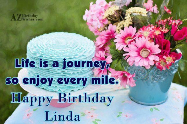 Happy Birthday Linda - AZBirthdayWishes.com