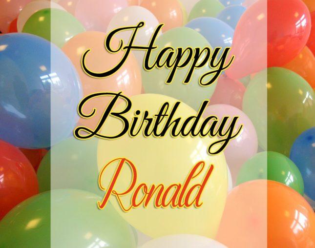 Happy Birthday Ronald - AZBirthdayWishes.com