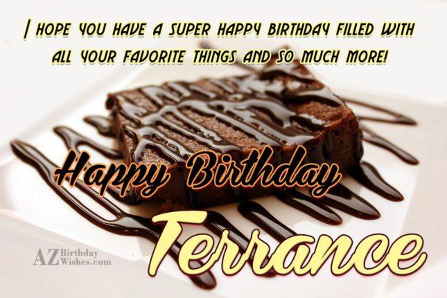 Happy Birthday Terrance - AZBirthdayWishes.com