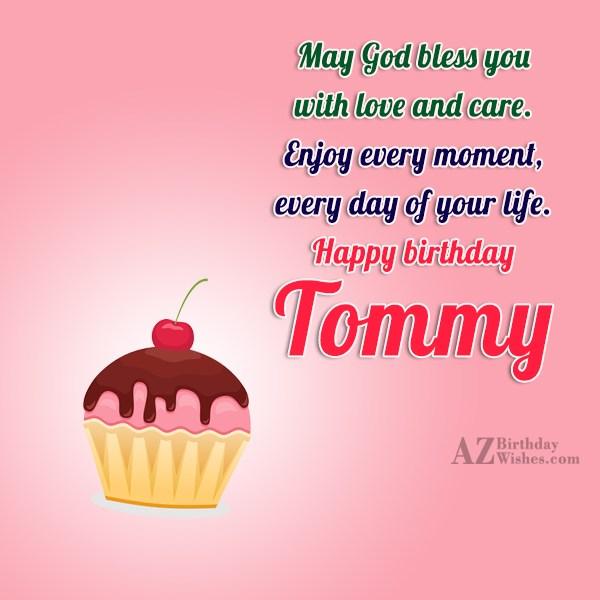 Happy Birthday Tommy - AZBirthdayWishes.com