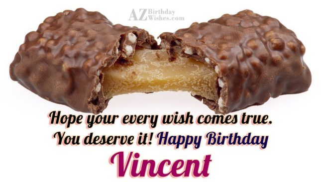 Happy Birthday Vincent - AZBirthdayWishes.com