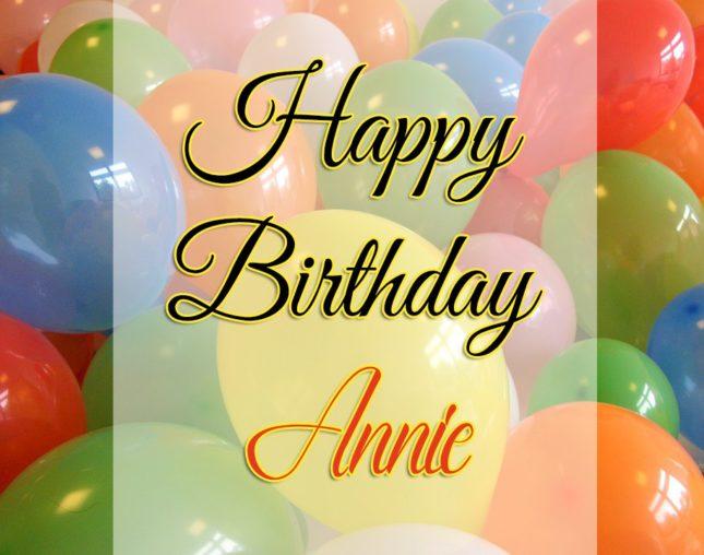 Happy Birthday Annie - AZBirthdayWishes.com