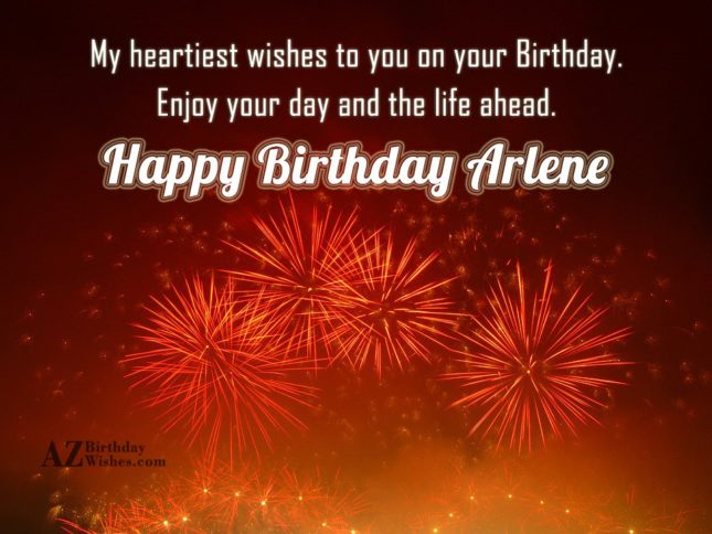 Happy Birthday Arlene - AZBirthdayWishes.com