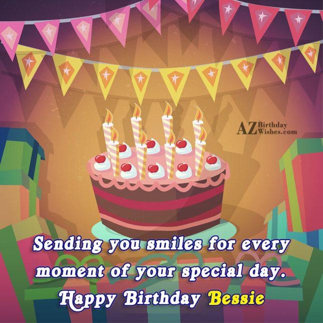Happy Birthday Bessie - AZBirthdayWishes.com