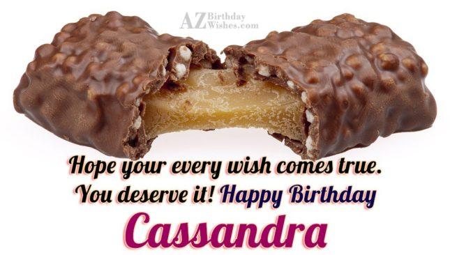 Happy Birthday Cassandra - AZBirthdayWishes.com