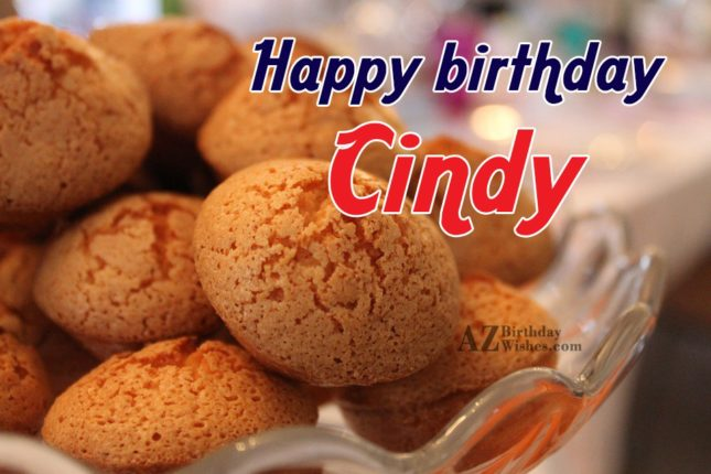 Happy Birthday Cindy - AZBirthdayWishes.com