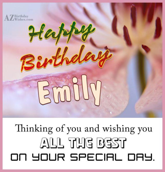Happy Birthday Emily - AZBirthdayWishes.com