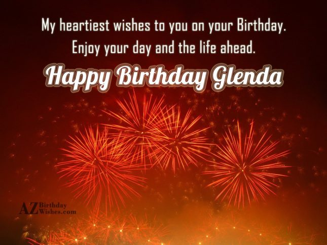 Happy Birthday Glenda - AZBirthdayWishes.com
