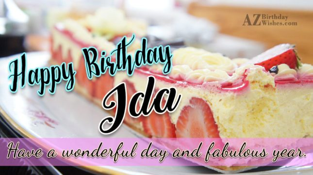 Happy Birthday Ida - AZBirthdayWishes.com