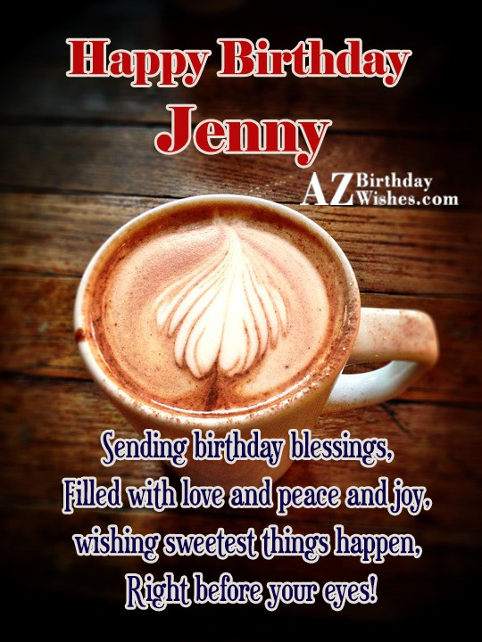 Happy Birthday Jenny - AZBirthdayWishes.com