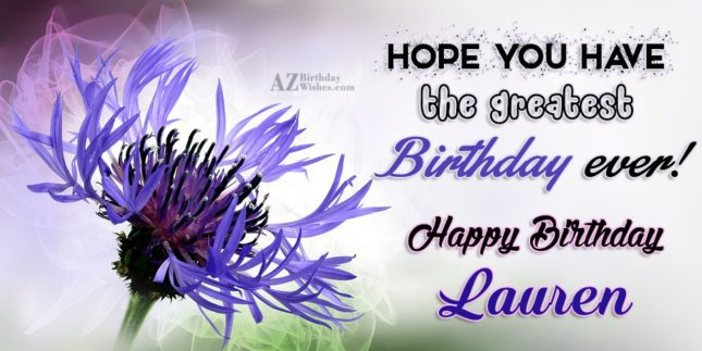 Happy Birthday Lauren - AZBirthdayWishes.com