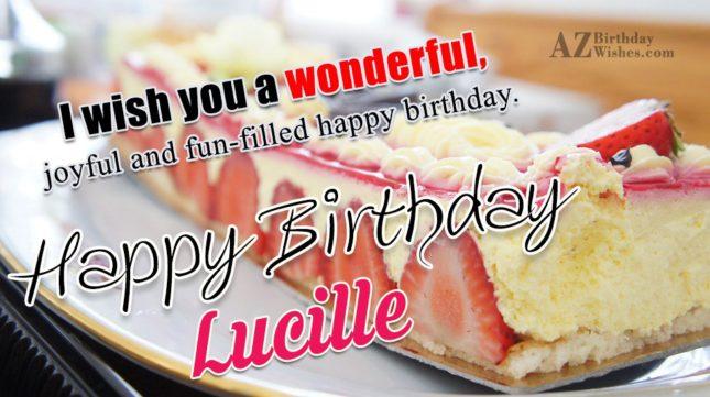 Happy Birthday Lucille - AZBirthdayWishes.com