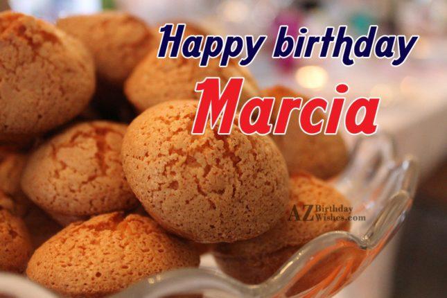 Happy Birthday Marcia - AZBirthdayWishes.com