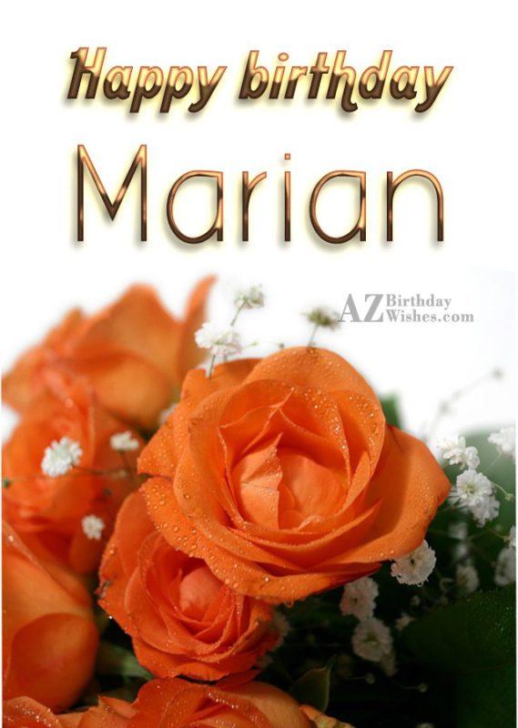Happy Birthday Marian - AZBirthdayWishes.com