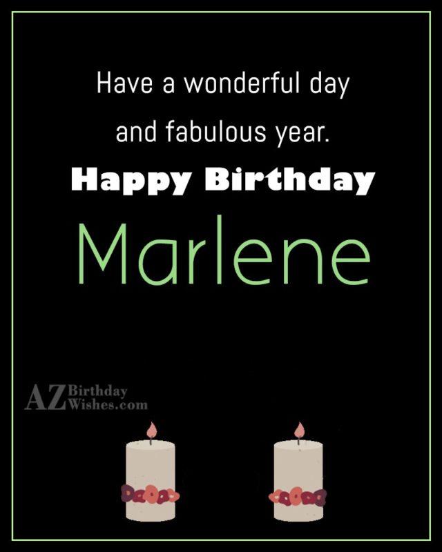 Happy Birthday Marlene - AZBirthdayWishes.com