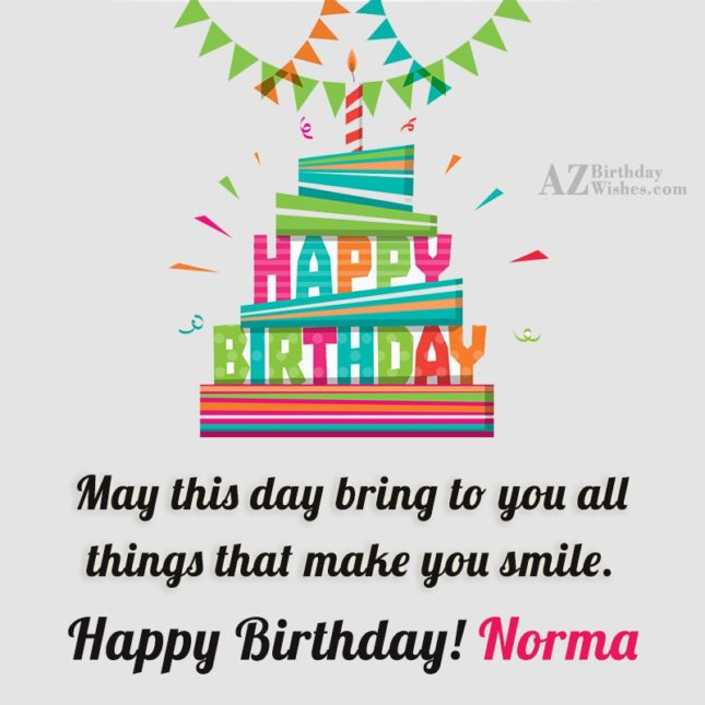 Happy Birthday Norma - AZBirthdayWishes.com