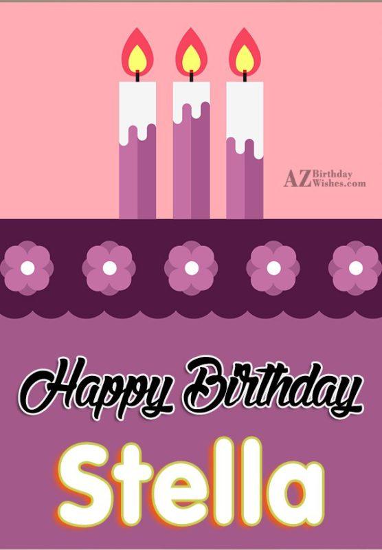 Happy Birthday Stelly - AZBirthdayWishes.com