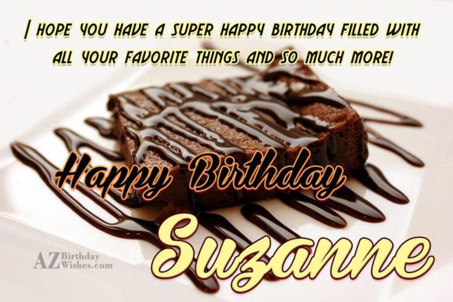 Happy Birthday Suzanne - AZBirthdayWishes.com