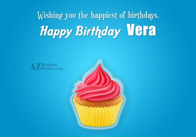 Happy Birthday Vera - AZBirthdayWishes.com