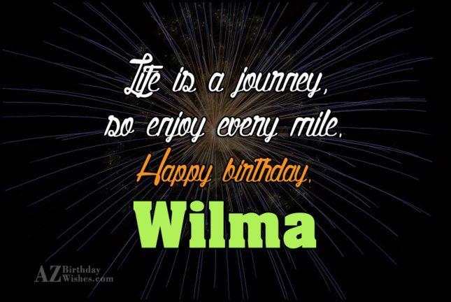 Happy Birthday Wilma - AZBirthdayWishes.com
