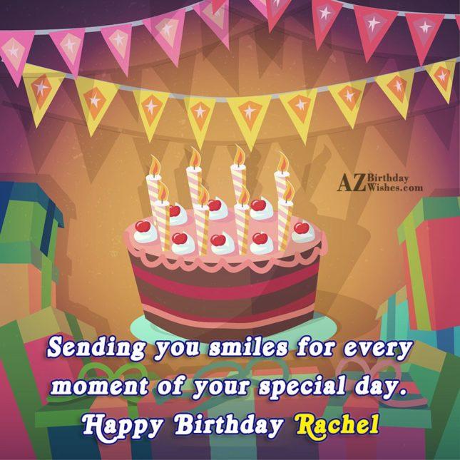 Happy Birthday Rachel - AZBirthdayWishes.com