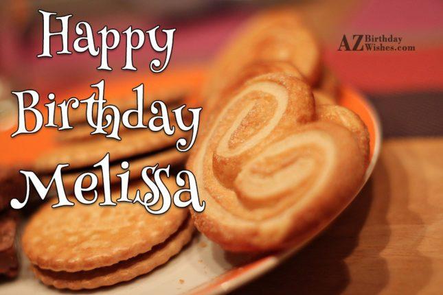 Happy Birthday Melissa - AZBirthdayWishes.com