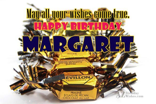 Happy Birthday Margaret - AZBirthdayWishes.com