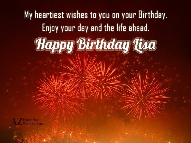Happy Birthday Lisa - AZBirthdayWishes.com