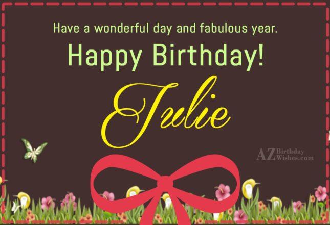 Happy Birthday Julie - AZBirthdayWishes.com